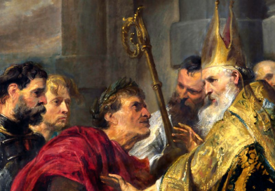 Urzędnik rzymski biskupem Kościoła: dwa słowa o Ambrożym z Mediolanu
